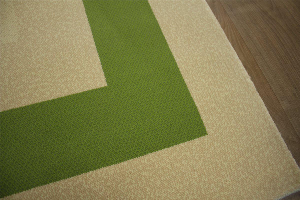 teppich fein velour soft 170x240 cm reliefschnitt beige gr n meliert ebay. Black Bedroom Furniture Sets. Home Design Ideas