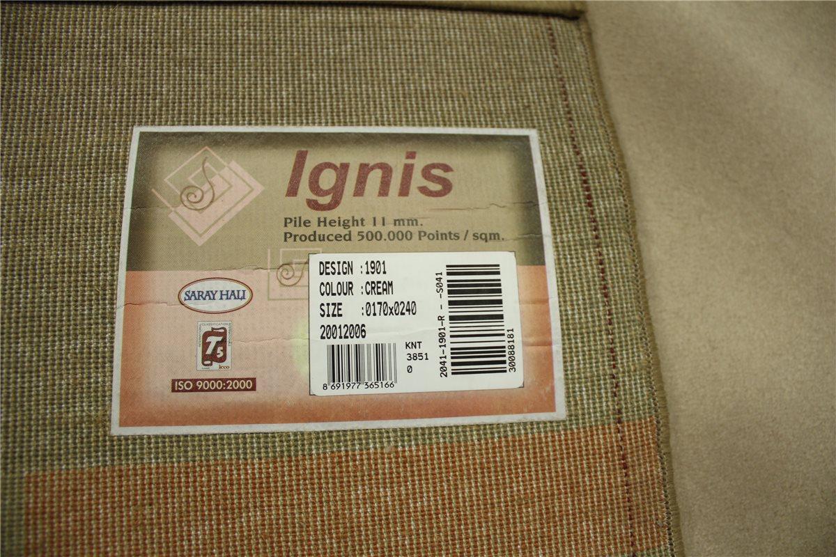 Teppich Ignis fein Velour soft 170×240 cm beige brau