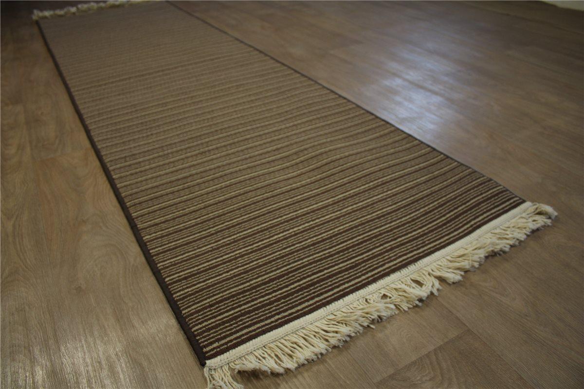 Teppich Velour Läufer Streifenberber 80×270 cm braun  eBay