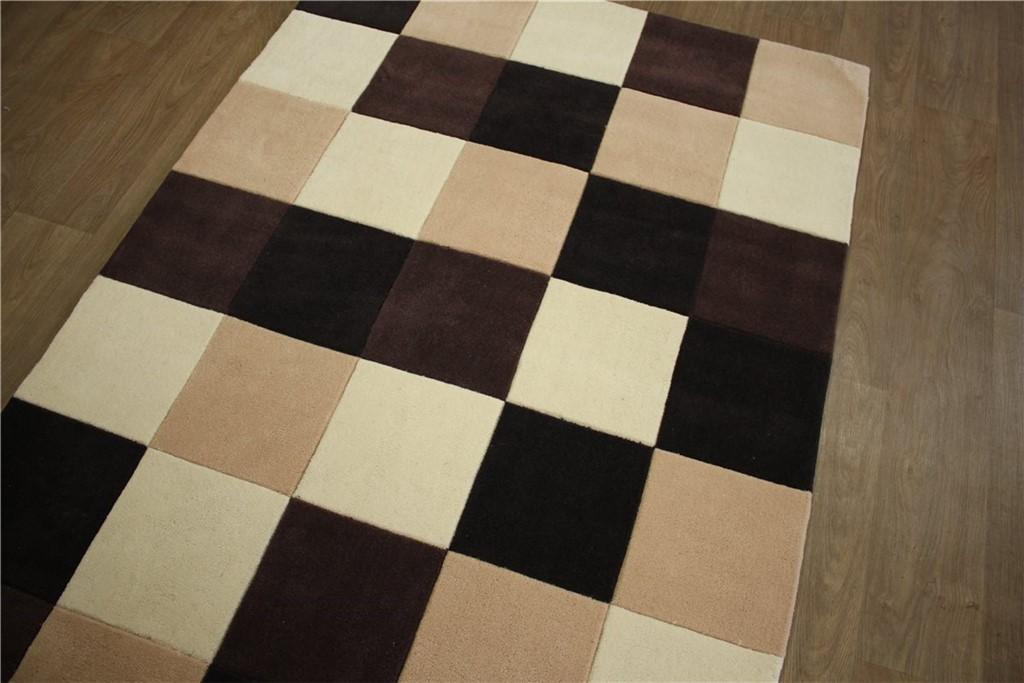 designer teppich 140x200 cm 100 acryl handgetuftet beige. Black Bedroom Furniture Sets. Home Design Ideas