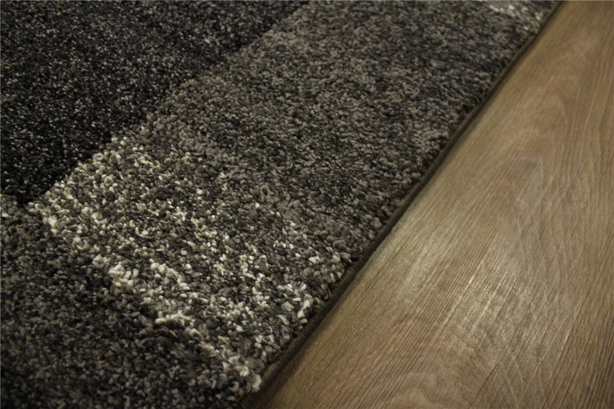 teppich gabbeh look velour 130x190 cm anthrazit meliert ebay. Black Bedroom Furniture Sets. Home Design Ideas