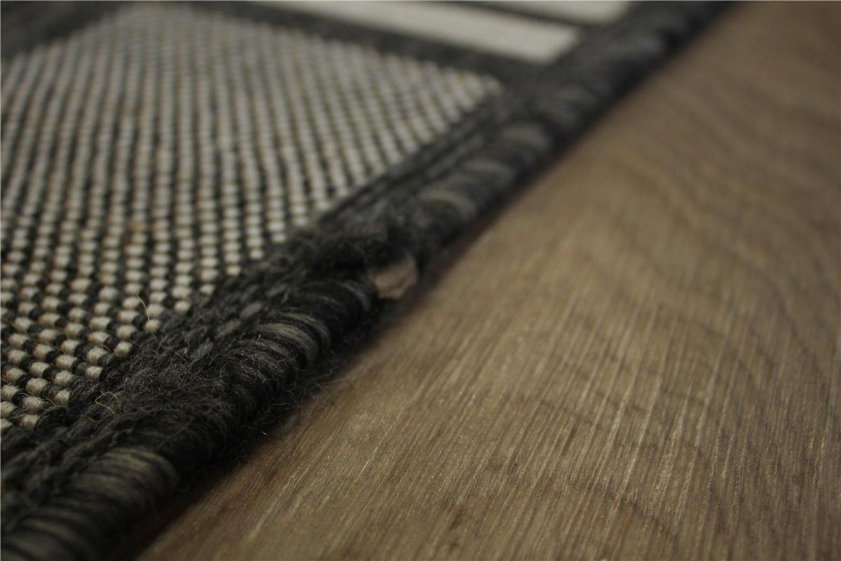 teppich flachgewebe sisal optik 120x170 cm anthrazit. Black Bedroom Furniture Sets. Home Design Ideas