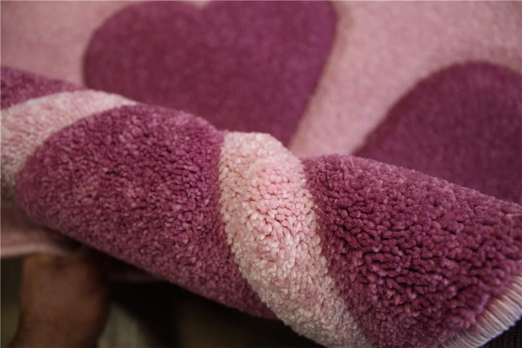 hochwertiger kinder teppich rund velour spielteppich 120x120 cm lila pink ebay. Black Bedroom Furniture Sets. Home Design Ideas