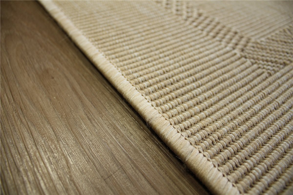 teppich flachgewebe sisal optik 130x190 cm beige ebay. Black Bedroom Furniture Sets. Home Design Ideas