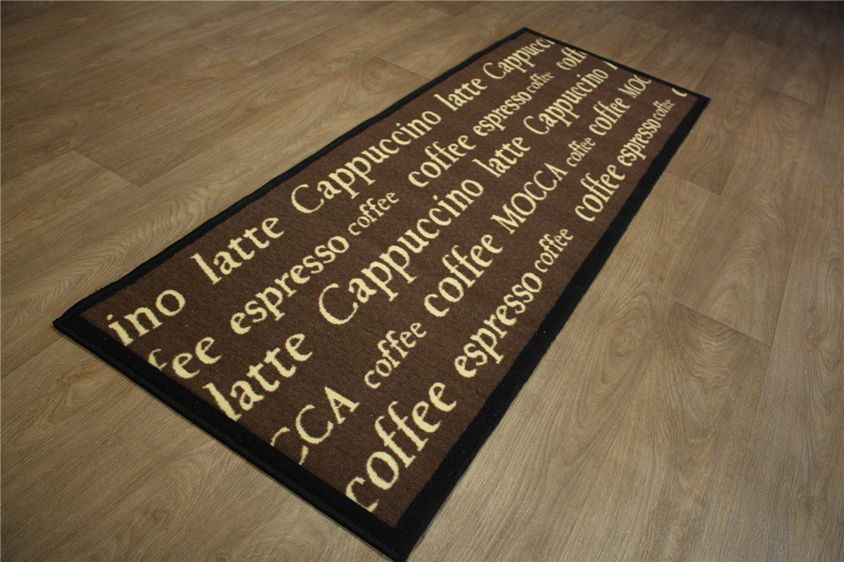 Teppich Küchenläufer 65×180 cm Kaffee Cappuccino Espresso