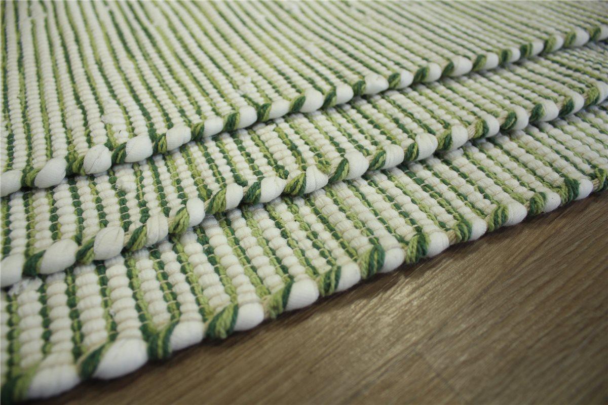 3x teppich kelim 60x120 cm 50 baumwolle beidseitig verwendbar gr n wei ebay. Black Bedroom Furniture Sets. Home Design Ideas