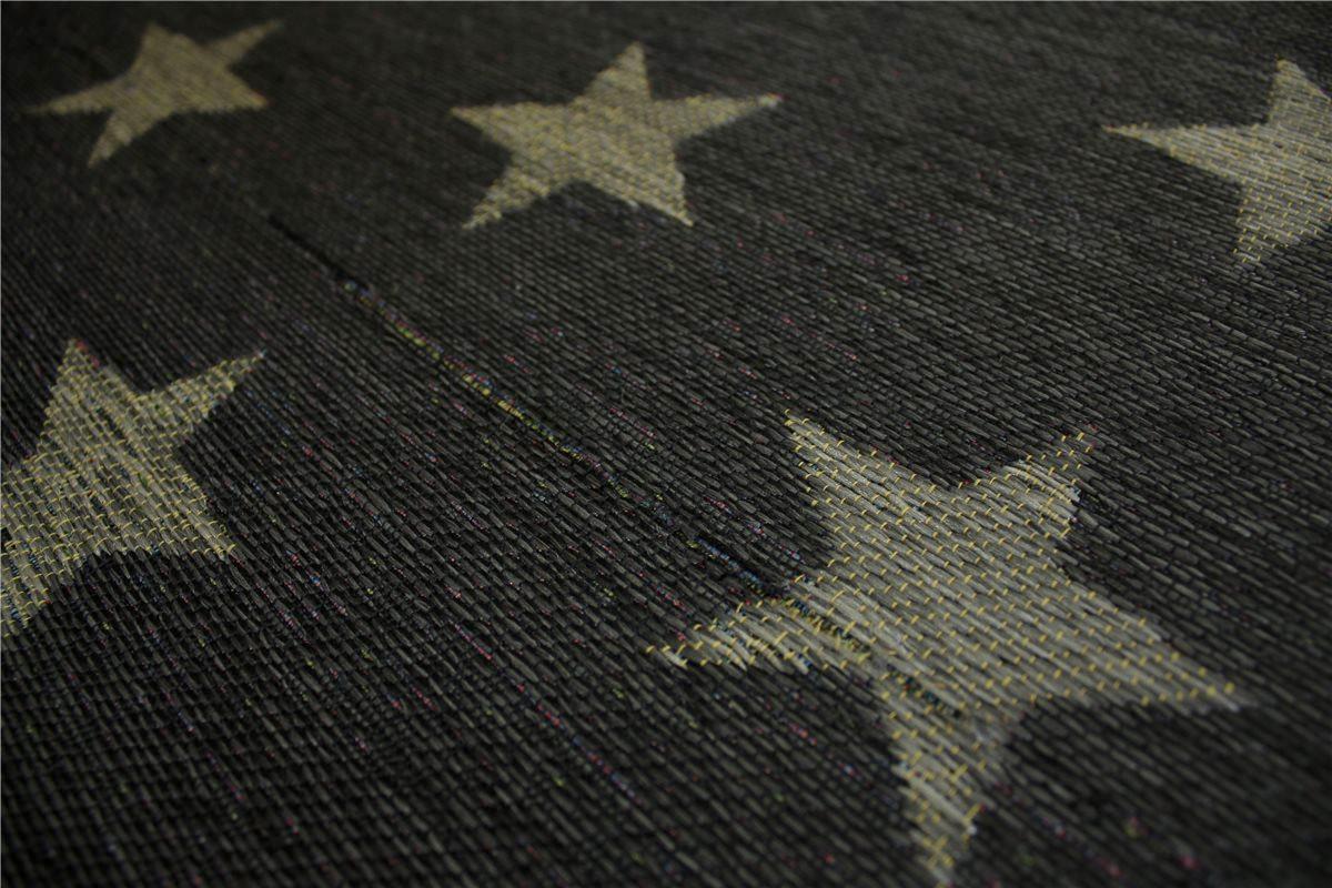 designer Teppich Flachgewebe 160×230 cm grau Anthrazit B Ware