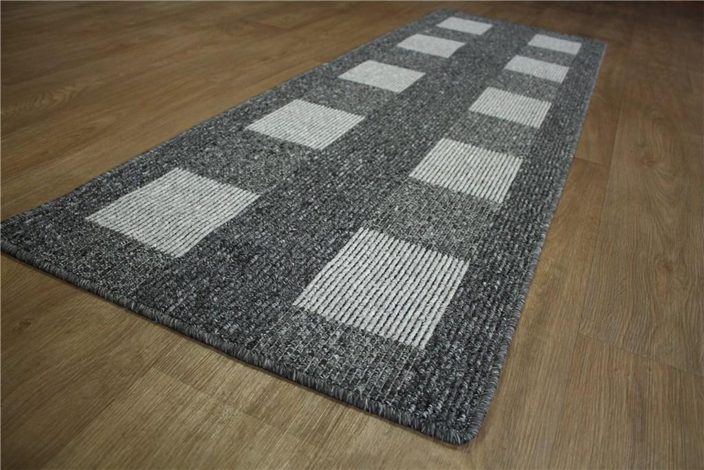 teppich k chenl ufer l ufer velour 65x200 cm grau ebay. Black Bedroom Furniture Sets. Home Design Ideas