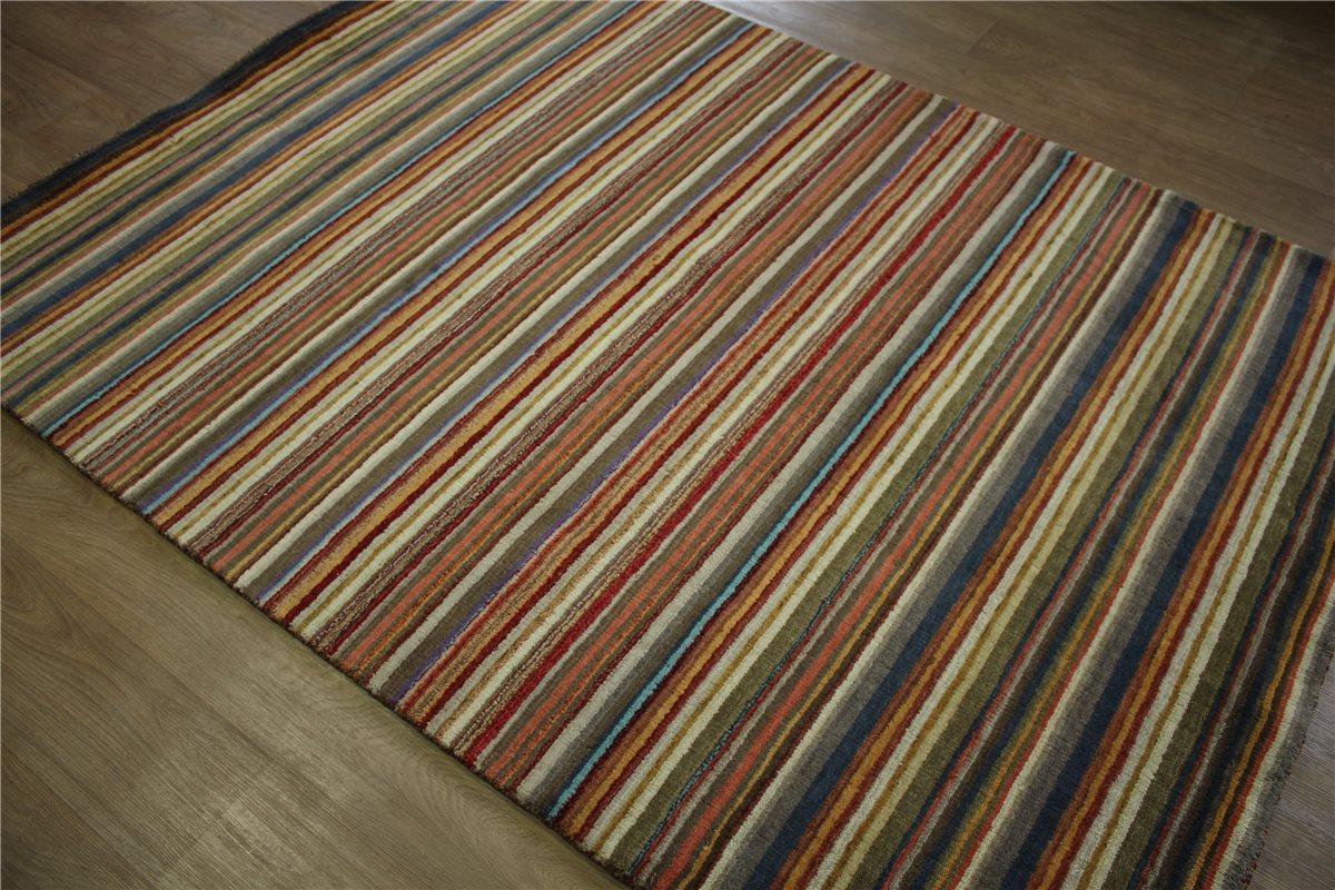 Teppich Gabbeh 160×230 cm 100% Wolle Handgewebt multi  eBay