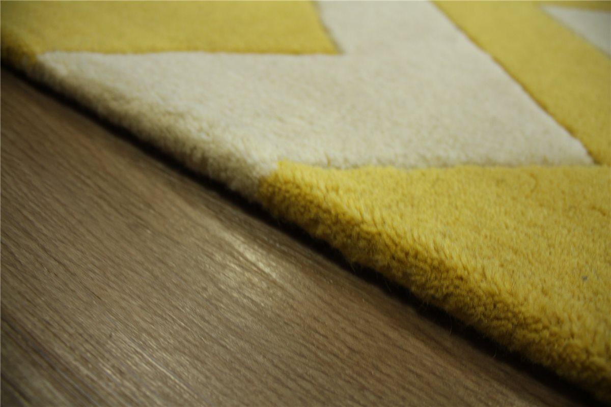 teppich schurwolle 150x230 cm 100 wolle handarbeit creme gelb ebay. Black Bedroom Furniture Sets. Home Design Ideas
