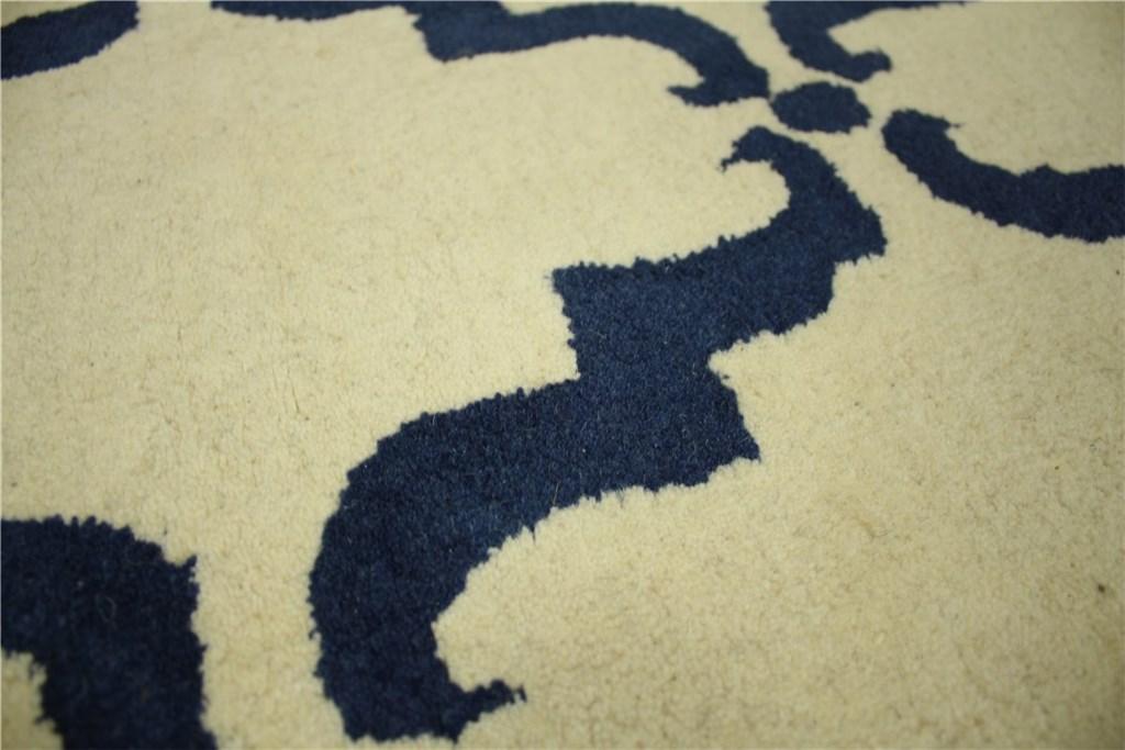 designer teppich 150x215 cm 100 wolle handarbeit creme. Black Bedroom Furniture Sets. Home Design Ideas