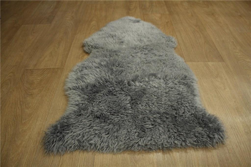 teppich schaffell lammfell teppich l ufer vorleger 60x90 cm leder pelz grau ebay. Black Bedroom Furniture Sets. Home Design Ideas