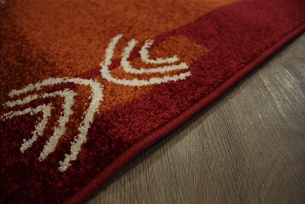 designer teppich velour l ufer 70x340 cm braun terraorange rot ebay. Black Bedroom Furniture Sets. Home Design Ideas