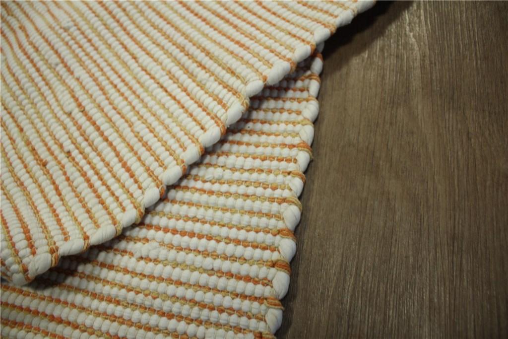 2x teppich kelim 60x120 cm 50 baumwolle beidseitig verwendbar orange wei ebay. Black Bedroom Furniture Sets. Home Design Ideas