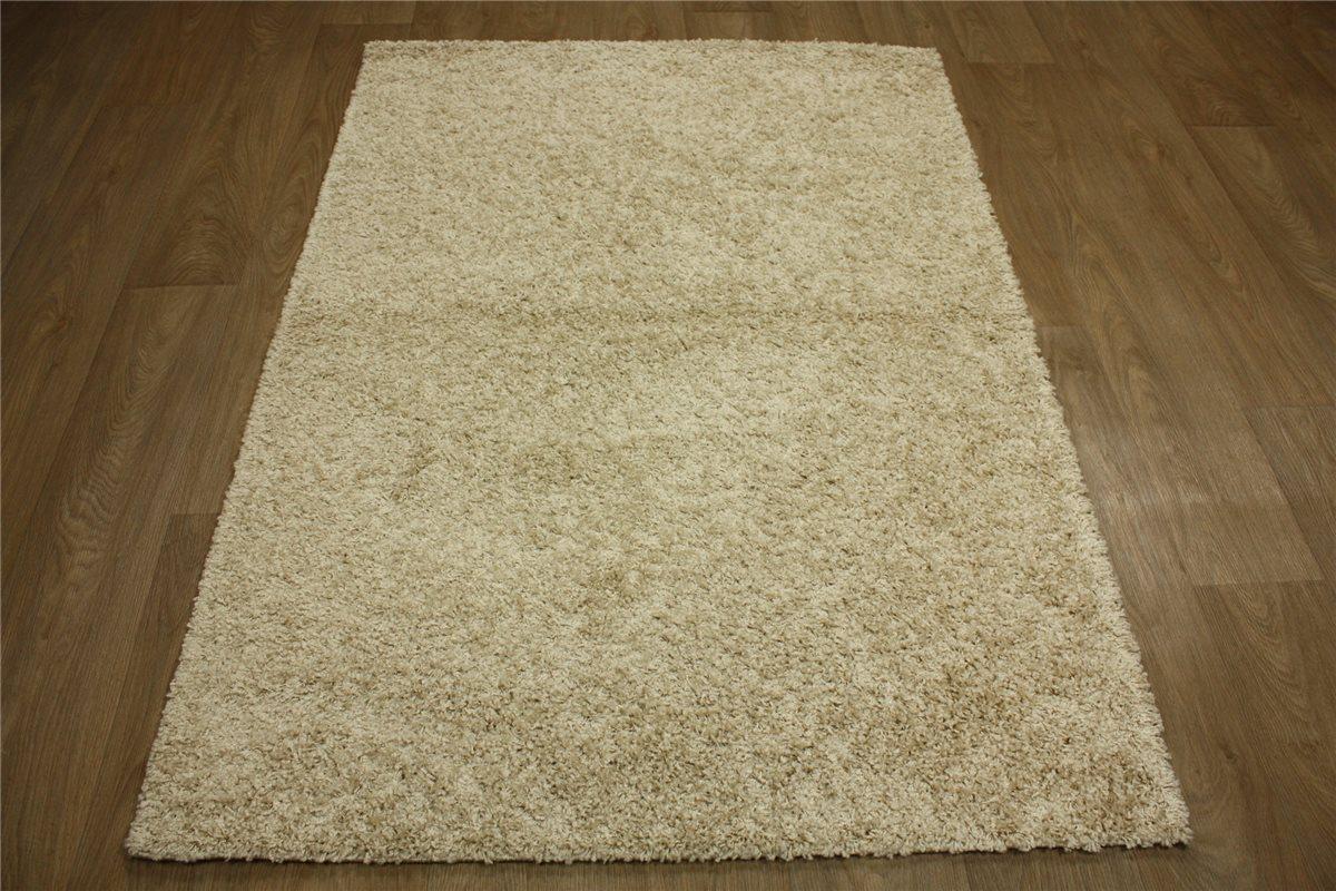 ~ Teppich Shaggy hochflor ~ 120×160 cm ~ beige ~  eBay