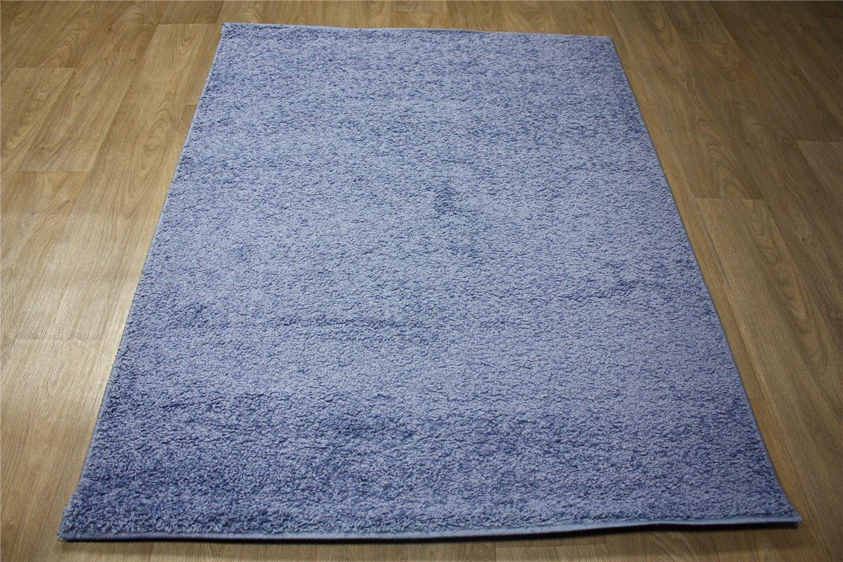 Tappeto Shaggy pelo lungo azzurro ~ 133x170 cm ~ blu-fumè ...