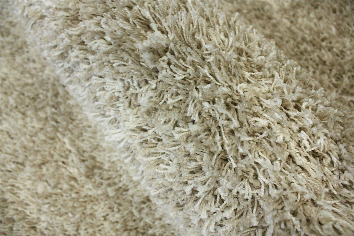 teppich shaggy hochflor langflor rund 200x200 cm creme beige ebay. Black Bedroom Furniture Sets. Home Design Ideas