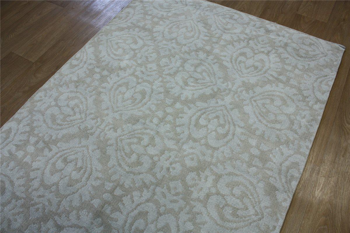 ~ Teppich Kelim Flachgewebe Chenille Baumwolle ~ 140×200