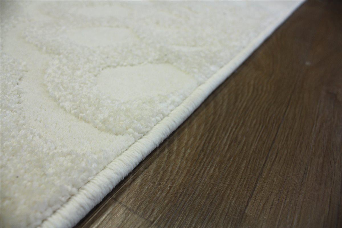 ~ designer Teppich Velour ~ 130×190 cm ~ creme B ware