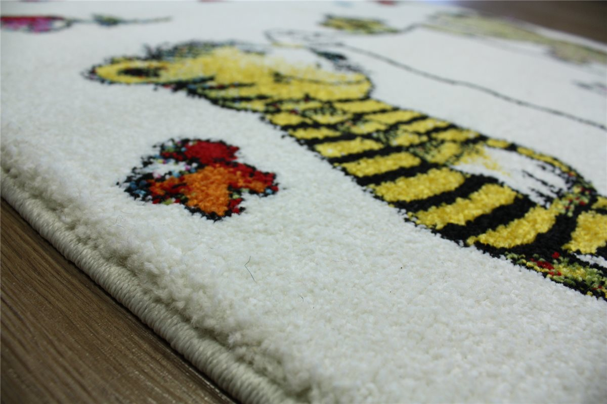 Children Rug Velour Play carpet 133×190 cm white multi  eBay