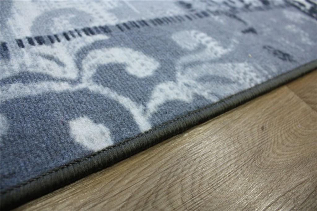 designer teppich velour patchwork 160x230 cm grau silber ebay. Black Bedroom Furniture Sets. Home Design Ideas