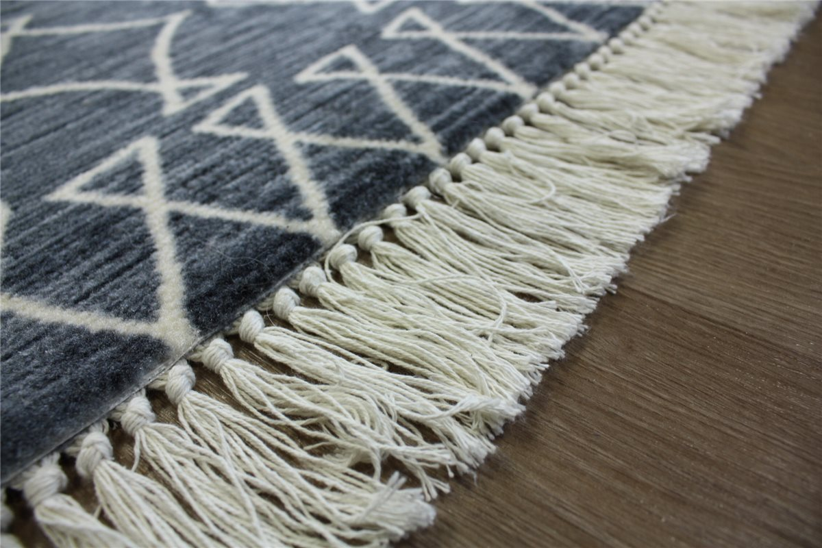 teppich kelim kilim flachgewebe 160x230 cm grau meliert ebay. Black Bedroom Furniture Sets. Home Design Ideas