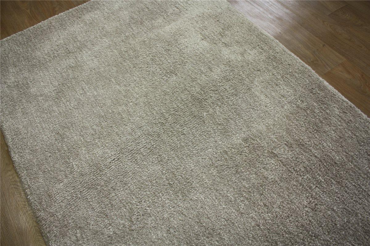 hochwertiger teppich soft samtweich hochflor 140x200 cm beige ebay. Black Bedroom Furniture Sets. Home Design Ideas