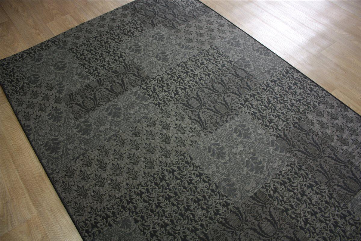 ~ designer Teppich Patchwork ~ 160×230 cm ~ grau Anthrazit