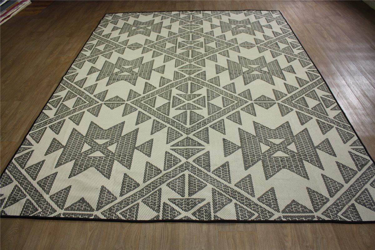teppich in outdoor flachgewebe 160x230 cm schlamm creme ebay. Black Bedroom Furniture Sets. Home Design Ideas