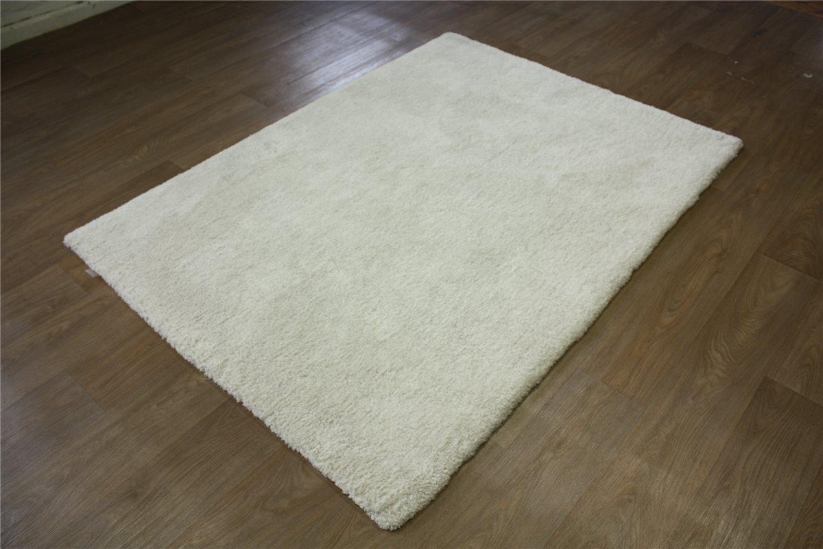 ~ Teppich soft samtweich hochflor ~ 140×200 cm ~ beige