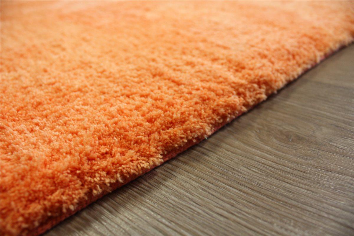 ~ Teppich soft samtweich hochflor ~ 140×200 cm ~ orange B