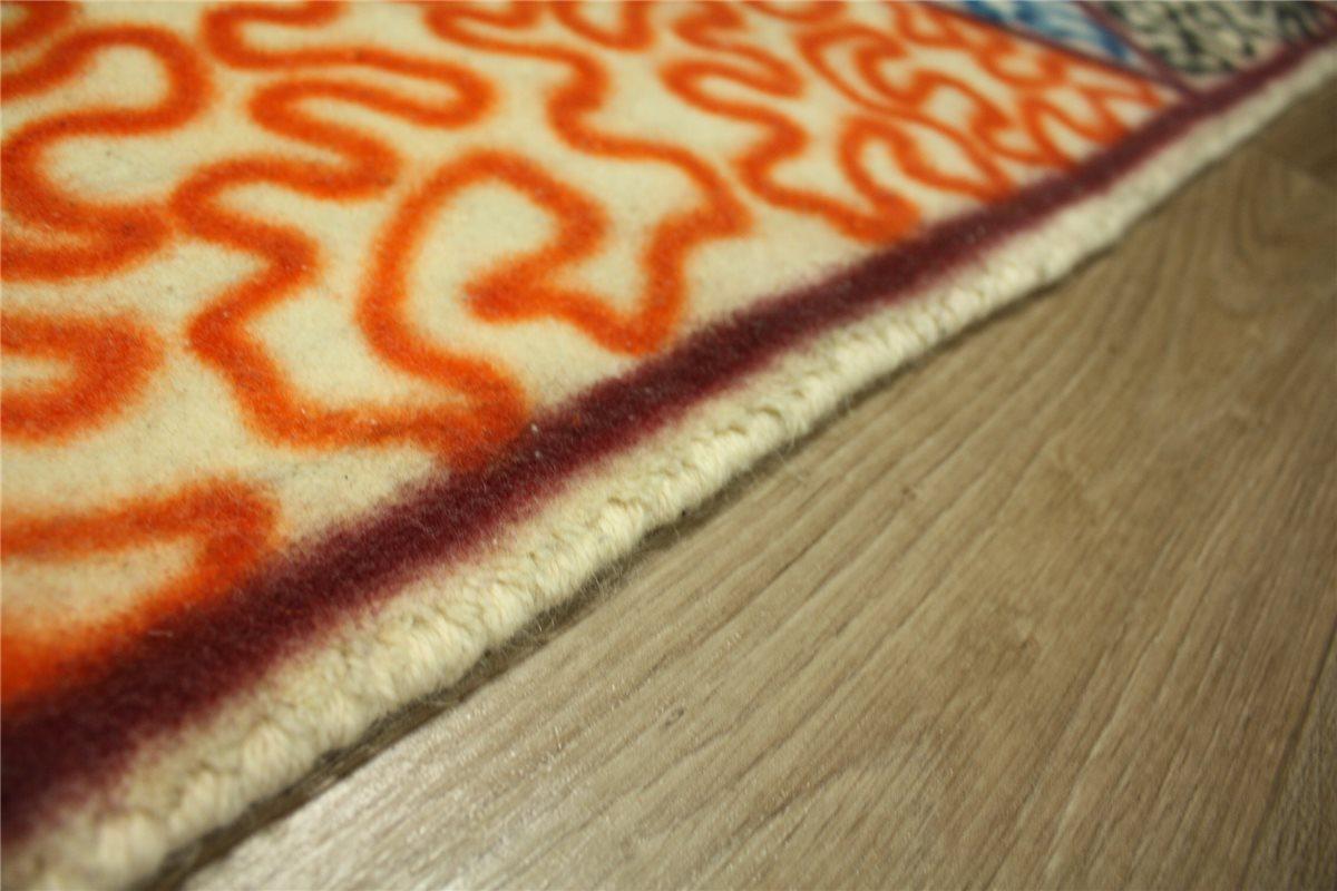 teppich l ufer 90x240 cm 100 wolle orange blau. Black Bedroom Furniture Sets. Home Design Ideas