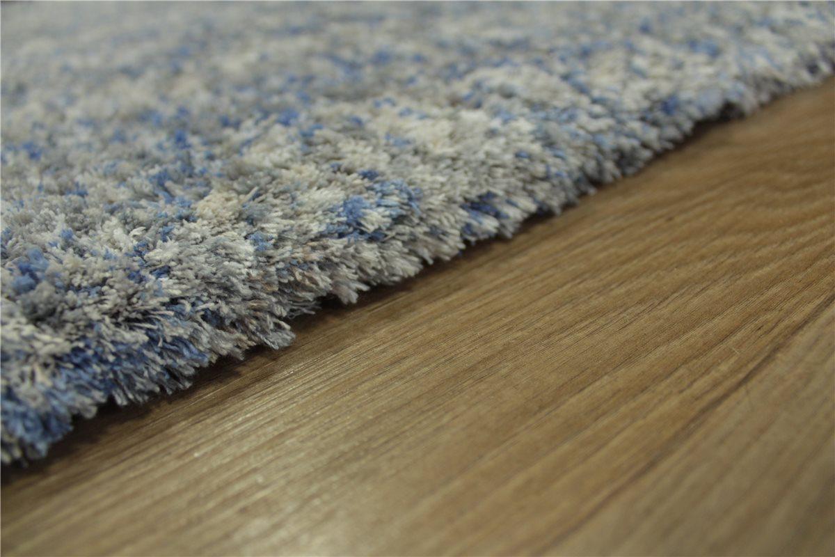 teppich soft samtweich hochflor 140x200 cm beige grau blau meliert ebay. Black Bedroom Furniture Sets. Home Design Ideas