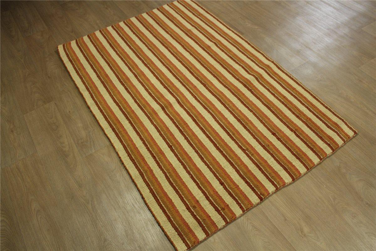 Teppich Gabbeh 120×175 cm 100% Wolle beige terra orange B