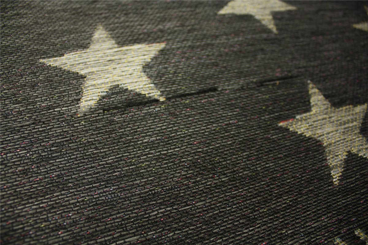 ~ designer Teppich Flachgewebe ~ 160×230 cm ~ grau