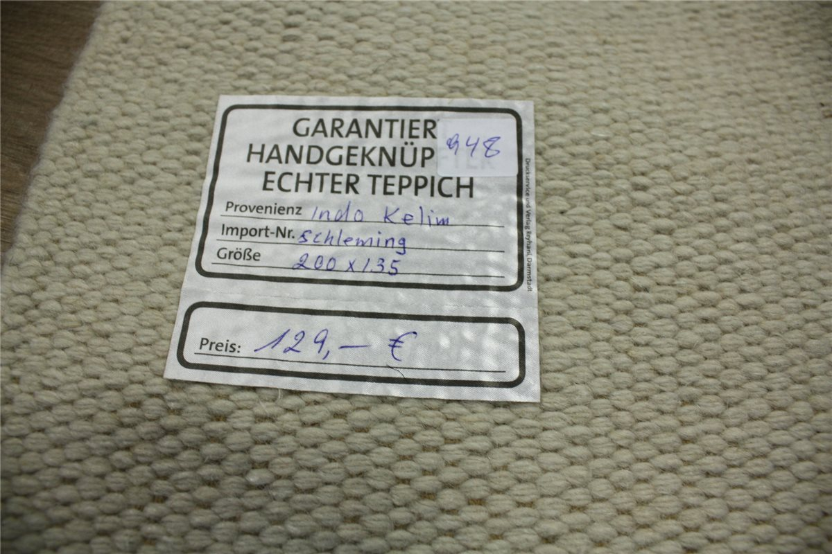 Teppich Kelim Durry 140×200 cm 100 % Wolle Handgewebt