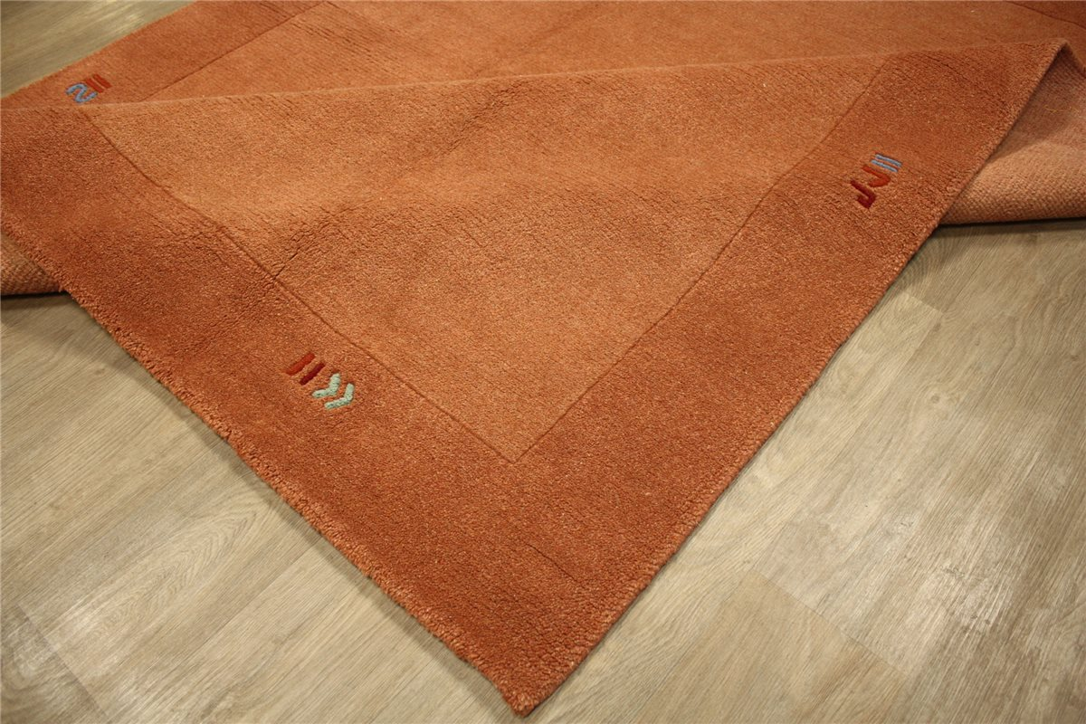 teppich nepal handgekn pft 200x240 cm 100 wolle terra ebay. Black Bedroom Furniture Sets. Home Design Ideas