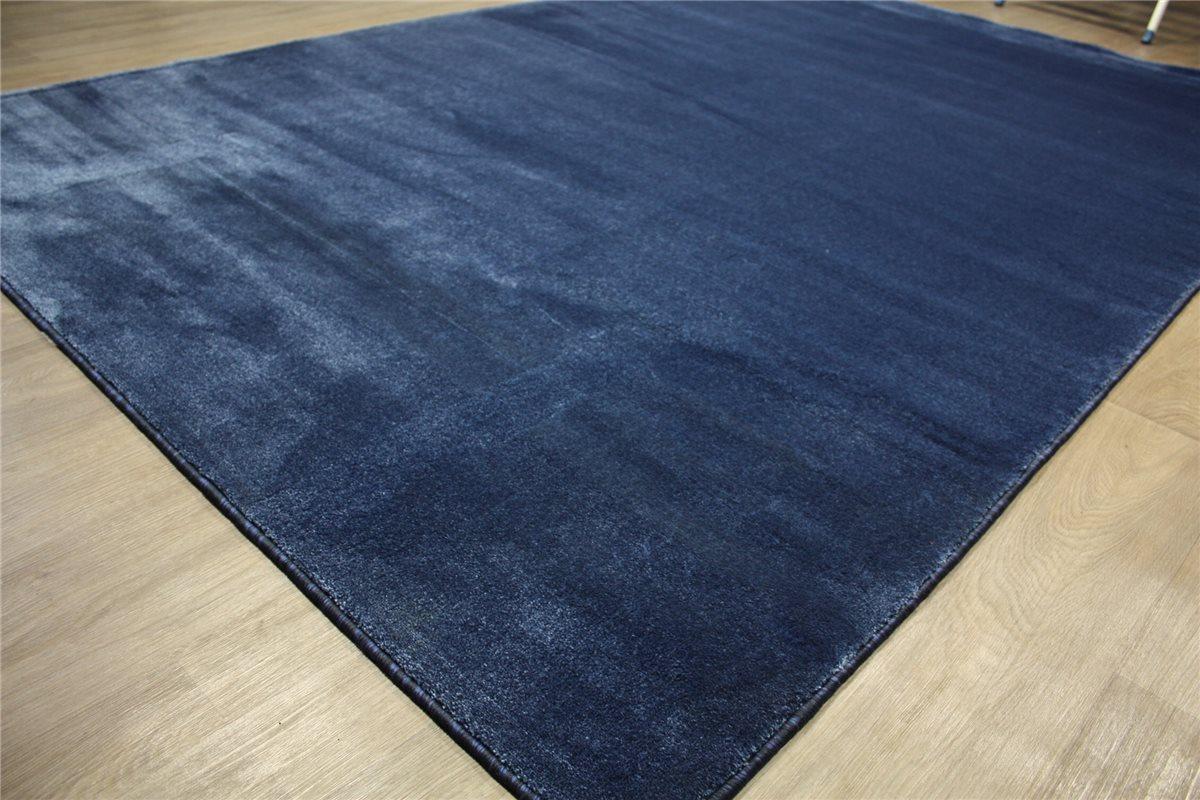 Teppich Velour fein 200×300 cm glanzeffekt blau  eBay