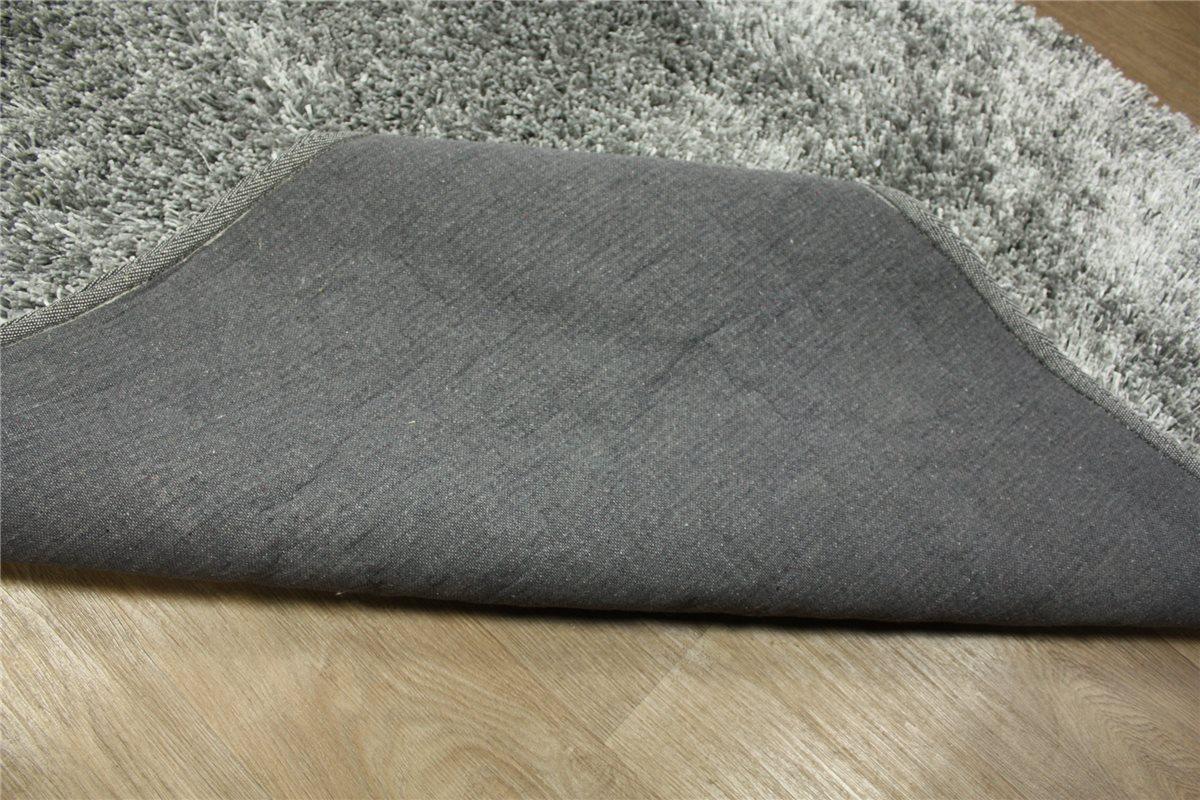 ~ Teppich Shaggy ~ 140×200 cm ~ Langflor ~ 4 Kgm² grau