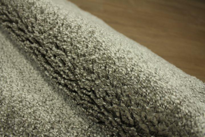 teppich shaggy velour hochflor br cke 80x150 cm silber ebay. Black Bedroom Furniture Sets. Home Design Ideas