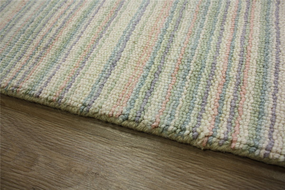 teppich l ufer br cke 60x120 cm 100 wolle beige streifen ebay. Black Bedroom Furniture Sets. Home Design Ideas