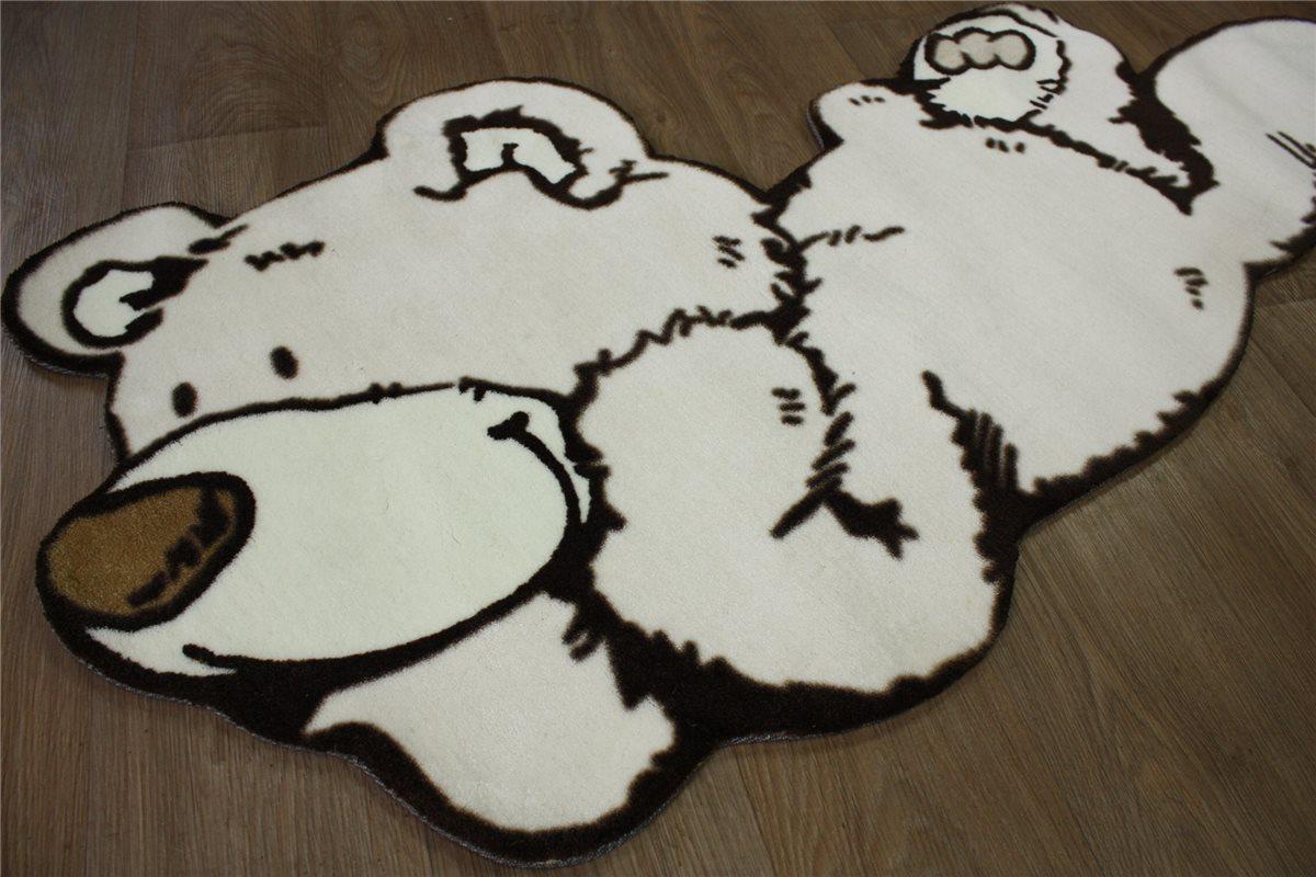 Kinder Teppich Nici 80×160 CM 100 Acryl Spielteppich Beige