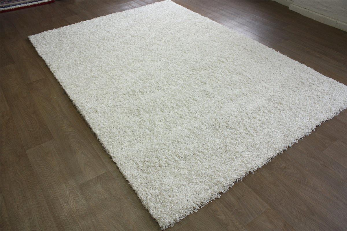 tapis shaggy se d tendre poils longs poil long lalee 200x290 cm blanc ebay. Black Bedroom Furniture Sets. Home Design Ideas