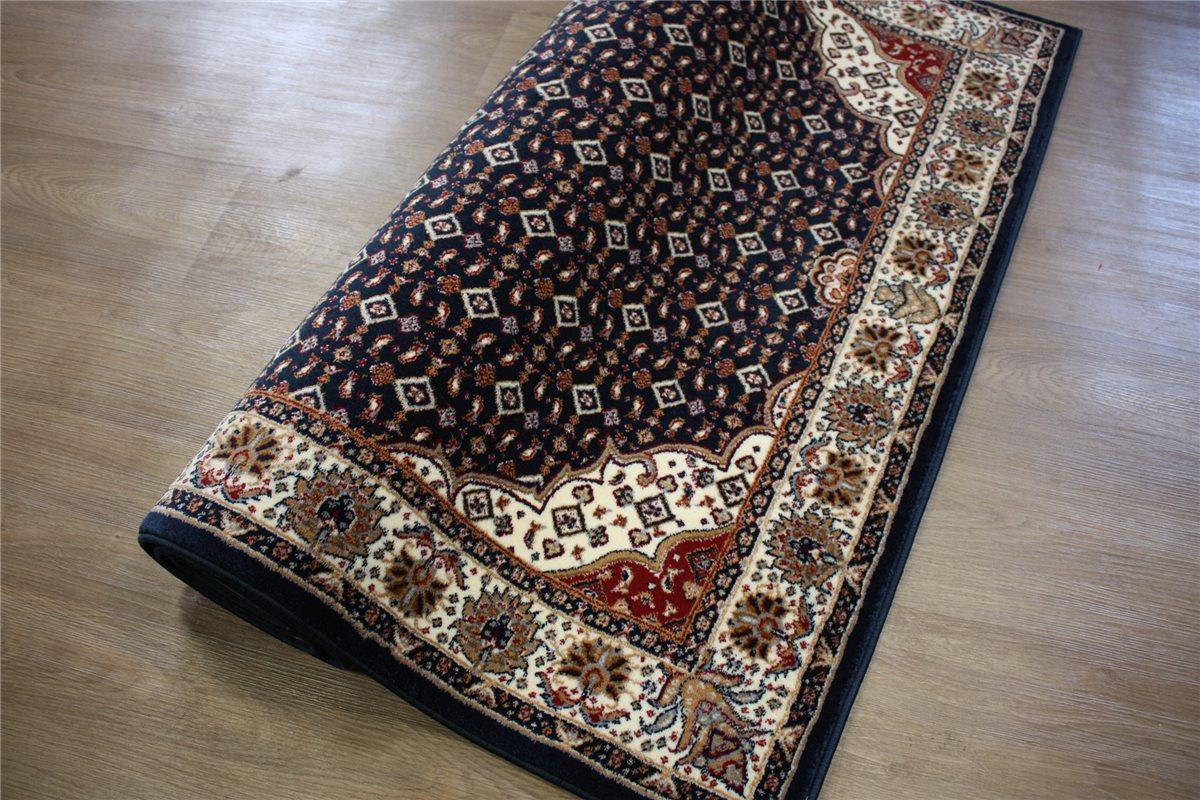 perser teppich orient gewebt 200x290 cm blau beige ebay. Black Bedroom Furniture Sets. Home Design Ideas