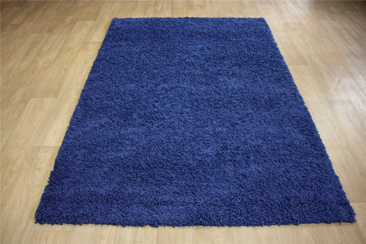 teppich shaggy relax hochflor langflor lalee 120x170 cm blau ebay. Black Bedroom Furniture Sets. Home Design Ideas