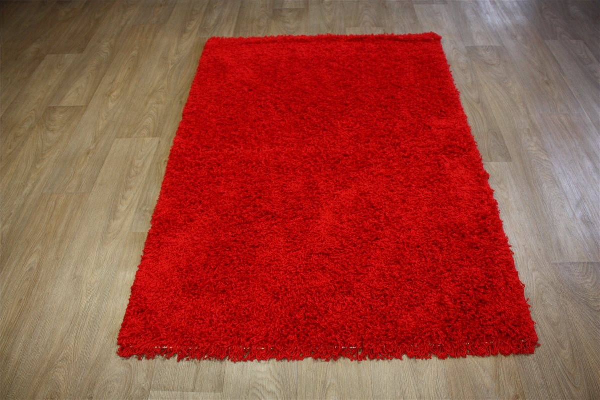teppich lalee shaggy hochflor langflor 160x230 cm rot ebay. Black Bedroom Furniture Sets. Home Design Ideas