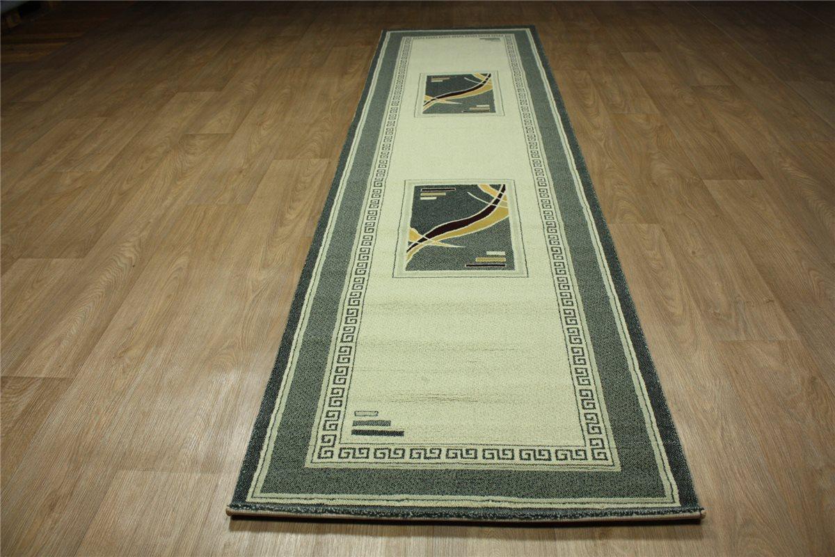 hochwertiger teppich velour l ufer 80x300 cm handgeschnitzt gr nt ne. Black Bedroom Furniture Sets. Home Design Ideas