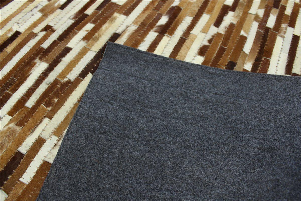 Alfombra patchwork cuero natural 160x230 cm vintage for Alfombras de cuero