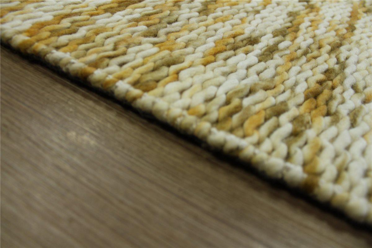 hochwertiger designer teppich 160x230 cm 100 wolle handgewebt senf gelb ebay. Black Bedroom Furniture Sets. Home Design Ideas