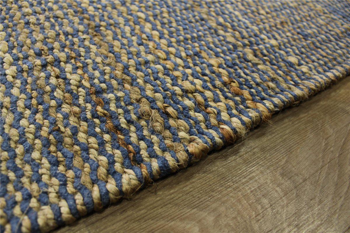 Alfombra yute con algod n 160x230 cm ambos lados puede ser for Alfombras de algodon indias